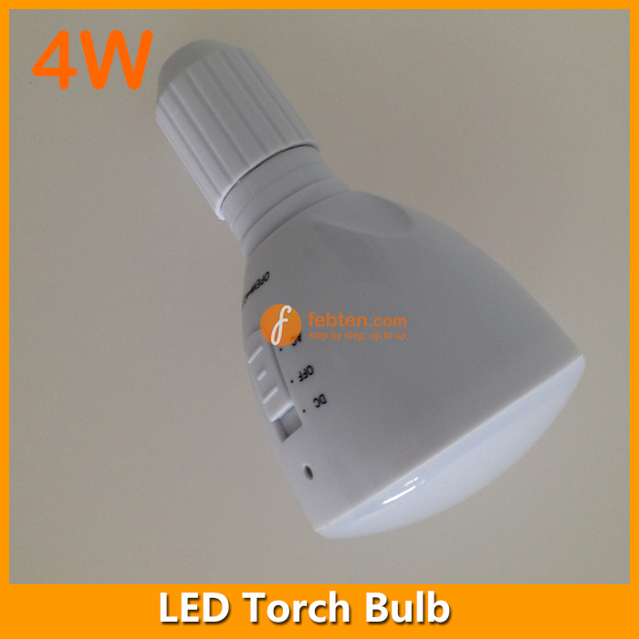 LED rechargeable torch bulb