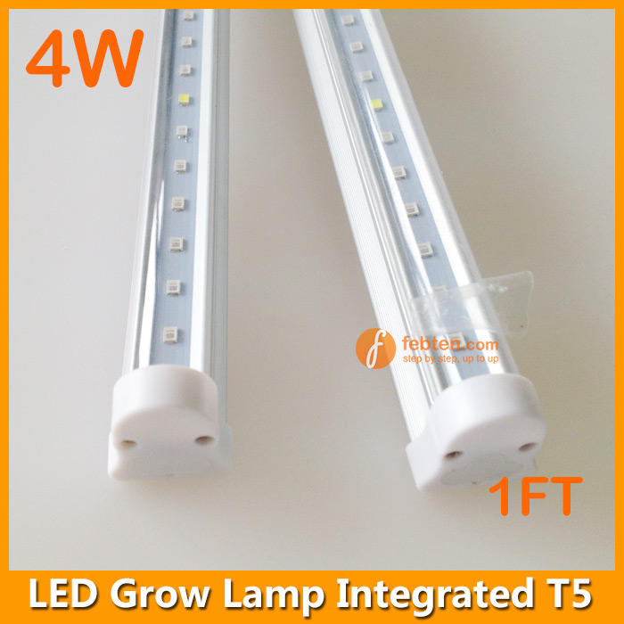 4w led grow lamp integrated t5 1ft tube grow systems. Black Bedroom Furniture Sets. Home Design Ideas