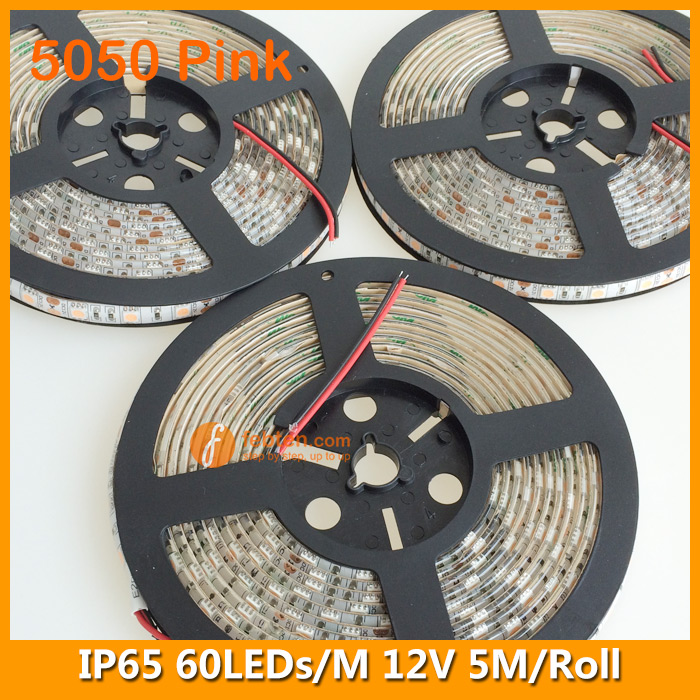 5050 Pink Lighting Color LED Strip Kit Lamp