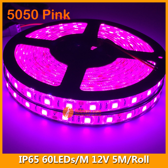 5050 Pink Lighting Color LED Strip Lamp