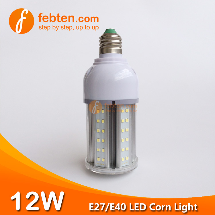 E27 12W LED Corn Light with Clear Cover