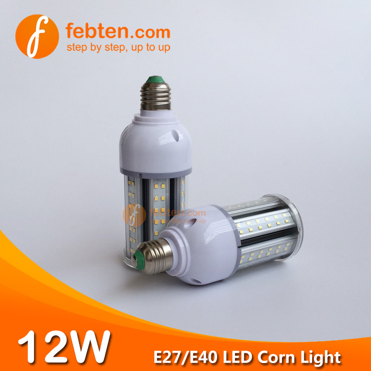 E40 12W LED Corn Light with Clear Cover