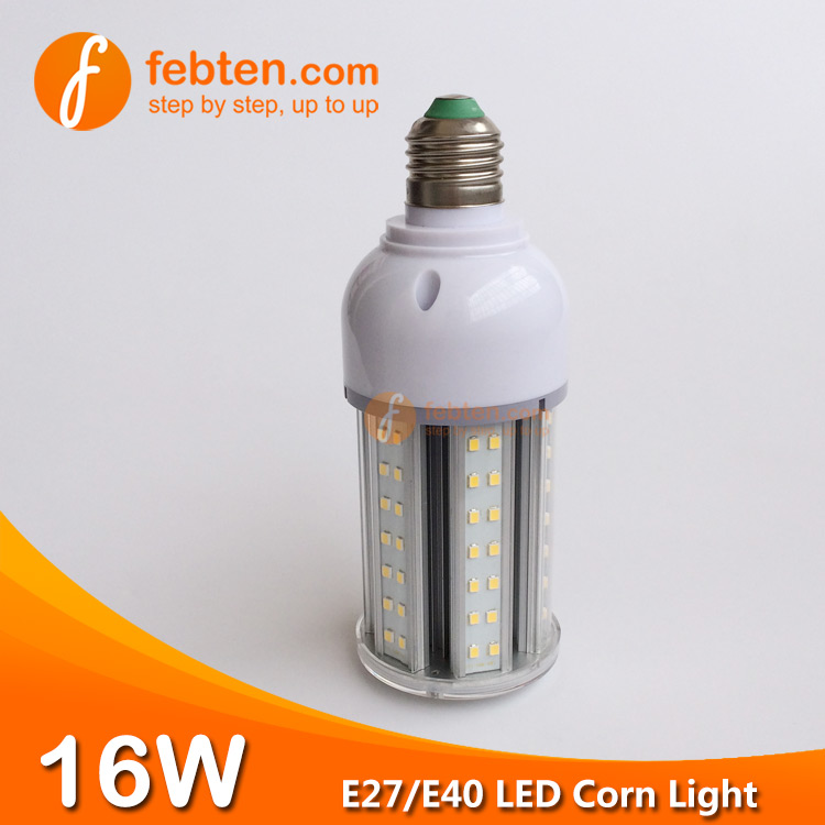 E40 16W LED Corn Light with Clear Milky Cover