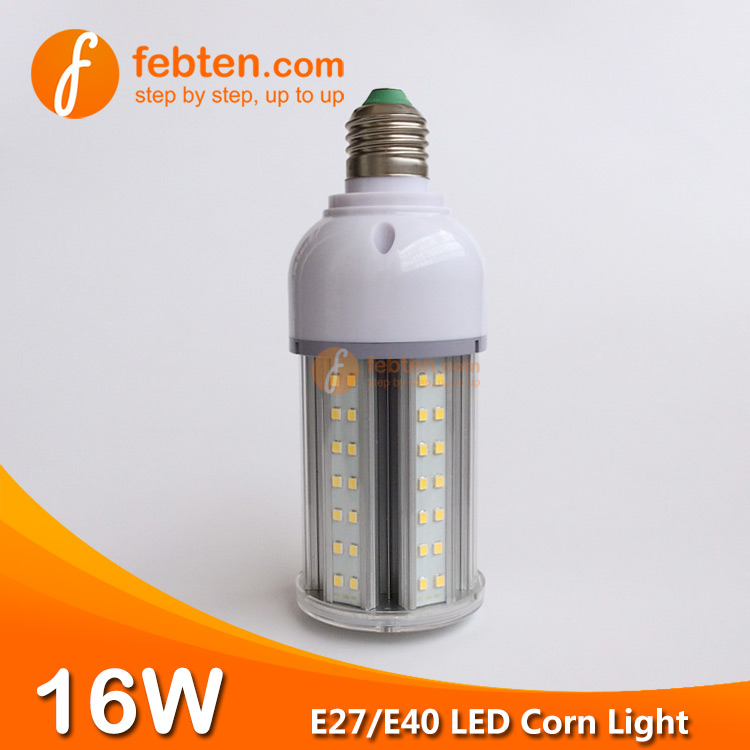 E27 E40 16W LED Corn Lamp with Clear Milky Cover