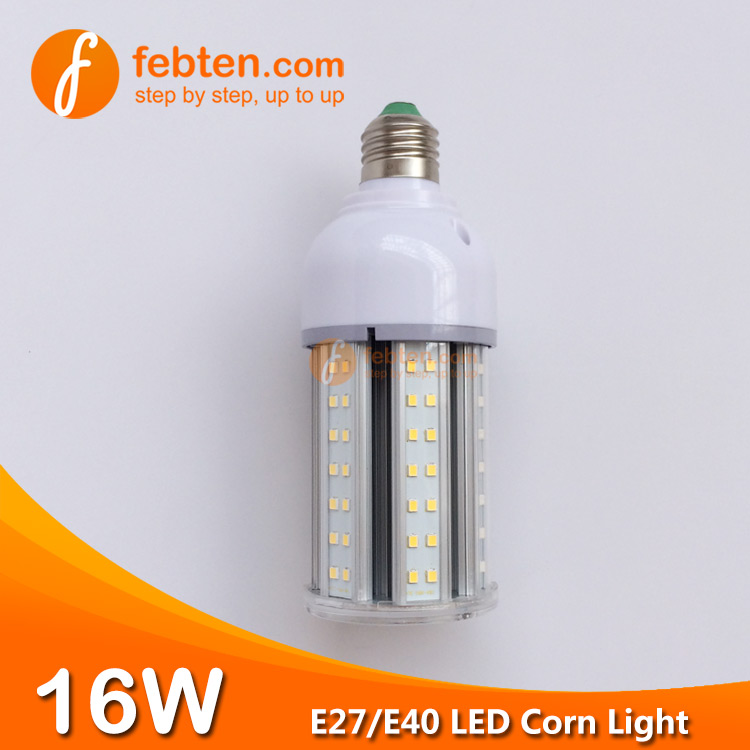 SMD2835 16W LED Corn Light with Clear Milky Cover