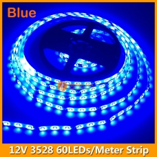 60LEDs per Meter 3528 Blue LED Strip Light 12Volts