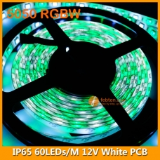 5050 RGBW IP65 LED Strip Lamp 12V 60LEDs/M White PCB