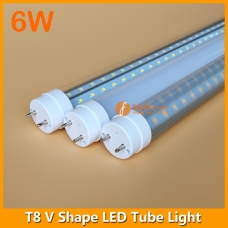 1ft 6W LED T8 V Shape Tube Light 240degree Beam Angle
