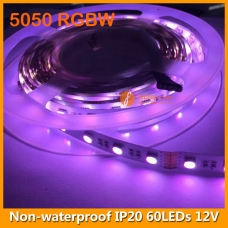5050 RGBW IP20 LED Strip Lamp 12V 60LEDs/M White PCB