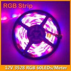 60LEDs per Meter 3528 RGB LED Strip Light 12Volts