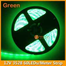 60LEDs per Meter 3528 Green LED Strip Light 12Volts