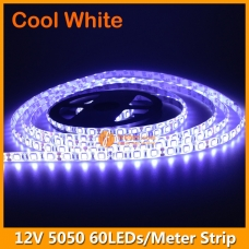 5Meters per Roll 5050 Cool White LED Strip Light 12V IP65