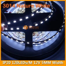 3014 Natural White IP20 LED Strip Lamp 12V 120LEDs/M