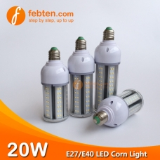 E27 E40 20W LED Corn Light with Clear Milky Cover