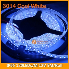 3014 Cool White IP65 LED Strip Kit 12V 120LEDs/M