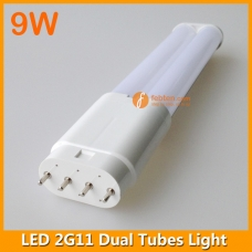 9W LED 2G11 Dual Tubes Light 232mm 4pins