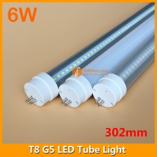 30cm 6W LED G5 Bi-Pin Tube Light 1ft 302mm