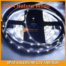 3014 Natural White IP20 LED Strip Light 12V 60LEDs/M
