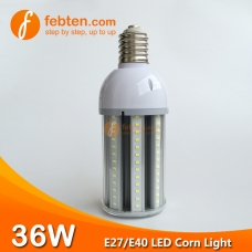 E27 E40 36W LED Corn Light with Clear Milky Cover