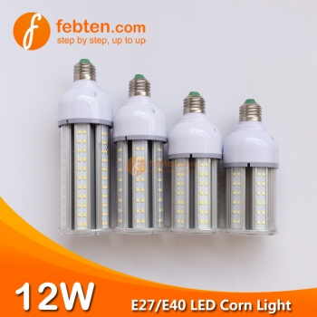 E27 E40 12W LED Corn Light with Clear Milky Cover