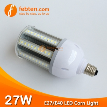 E27 E40 27W LED Corn Light with Clear Milky Cover