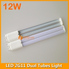 12W LED 2G11 Dual Tubes Light 327mm 4pins