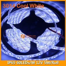 3014 Cool White IP65 LED Strip Light 12V 60LEDs/M