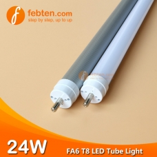 4feet 24W FA6 LED T8 Tube Light Single Pin