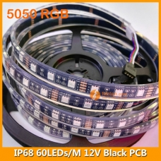 5050 RGB IP68 LED Strip Lamp 12V 60LEDs/M