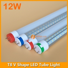 2ft 12W LED T8 V Shape Tube Light 240degree Beam Anlge