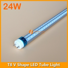 4ft 24W LED T8 V Shape Tube Light 240degree Beam Angle