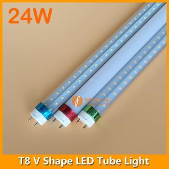 4ft 24W LED T8 V Shape Tube Light 240degree Beam Angle