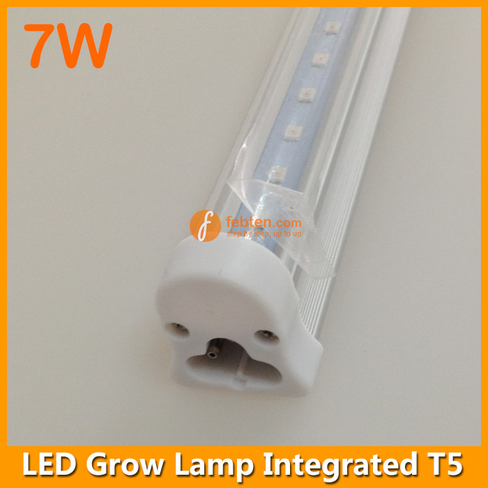 7w led grow lamp integrated t5 2ft home hydroponics. Black Bedroom Furniture Sets. Home Design Ideas
