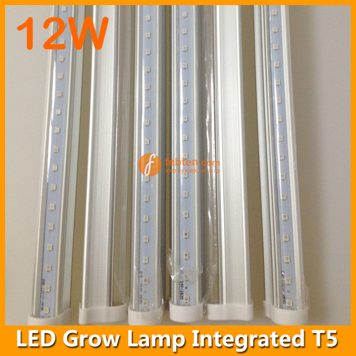 12w led grow lamp integrated t5 3ft lights for growing plants. Black Bedroom Furniture Sets. Home Design Ideas