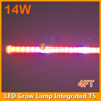 14W LED Grow Lamp Integrated T5 4FT
