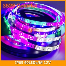 3528 Colorful IP65 LED Strip Lighting 12V 60LEDs/M