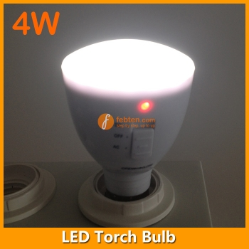 4W LED Torch Bulb Light Rechargeable