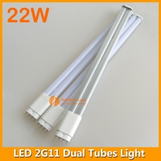 22W LED 2G11 Dual Tubes Light 542mm 4pins