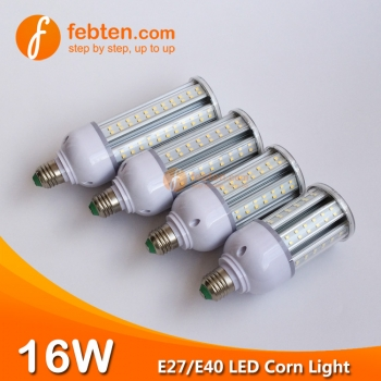 E27 E40 16W LED Corn Light with Clear Milky Cover
